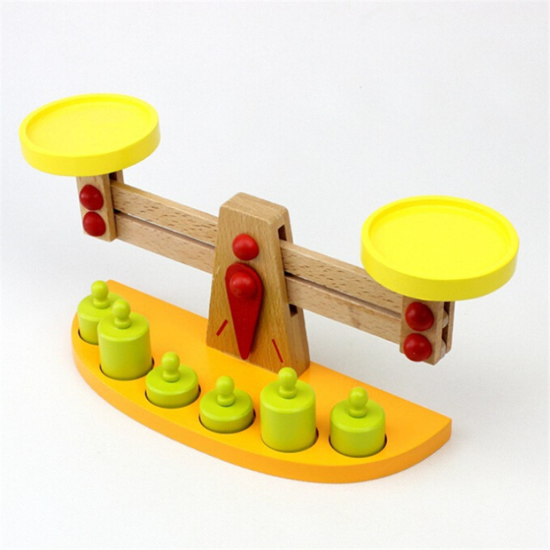 Montessori teaching tools wooden balance baby balance game Tianping wood puzzle children's toys Kindergarten gift 120pcs cartoon wooden jigsaw puzzle education toy for kid children baby montessori wooden toys
