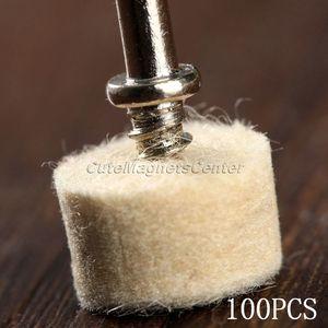 Image 4 - Accessoires Dremel, 100 pièces, 25mm, feutre de laine, roue de polissage, tampon de polissage + 4 tiges de 3.2mm pour outil rotatif Dremel