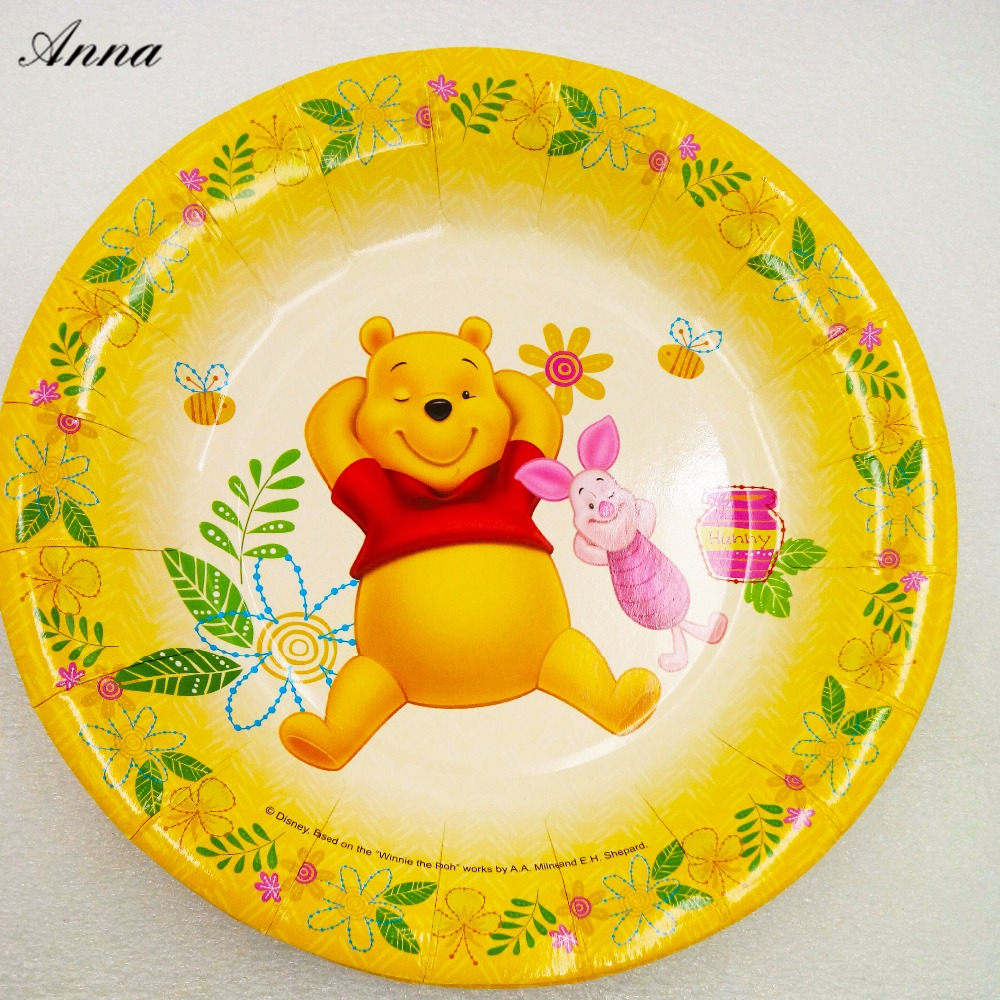 6pcs/bag Disney Winnie The Pooh 7inch Party Supplies Paper Plate Cake Dishes Disney Kids Birthday Baby Shower Decoration Plates-in Disposable Party ...  sc 1 st  AliExpress.com & 6pcs/bag Disney Winnie The Pooh 7inch Party Supplies Paper Plate ...