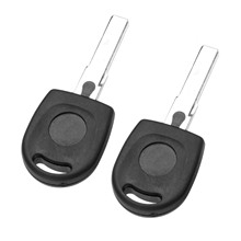 2Pcs Remote Car Key Blank Shell Transponder Case HU66/HAA With ID48 For Volkswagen Beetle Bora Fox Golf Passat Polo Quantum