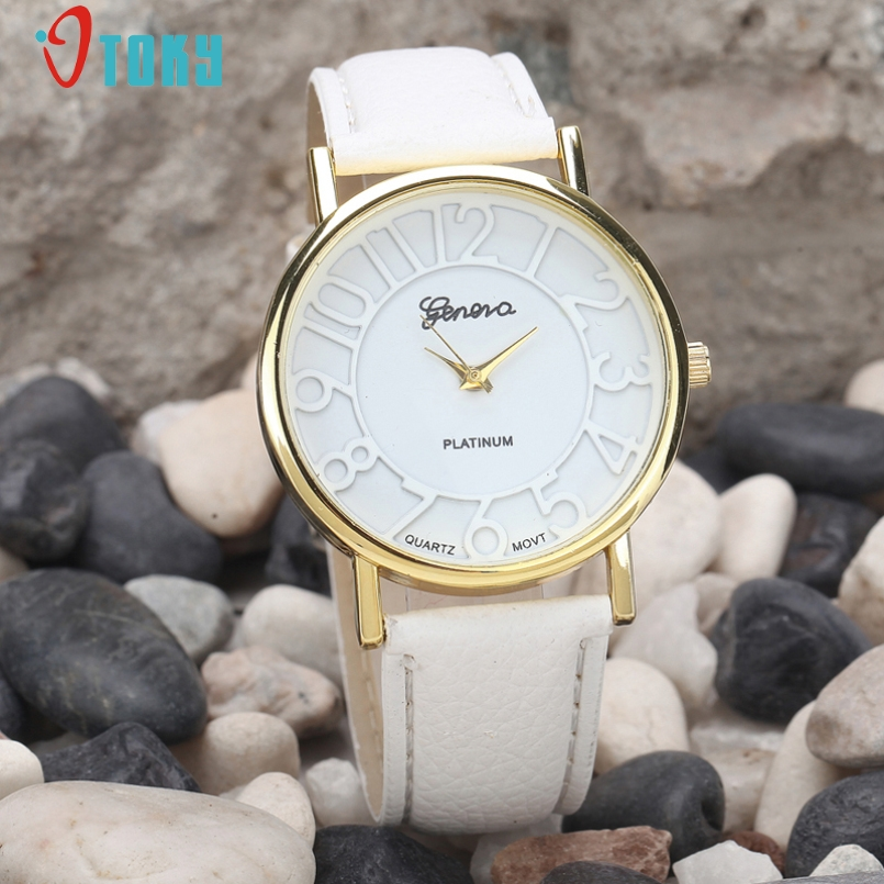 Excellent Quality New Casual Quartz Watch Women Vintage Dial Leather Strap Band Analog Watches Relogio Feminino for Gift Jan 13