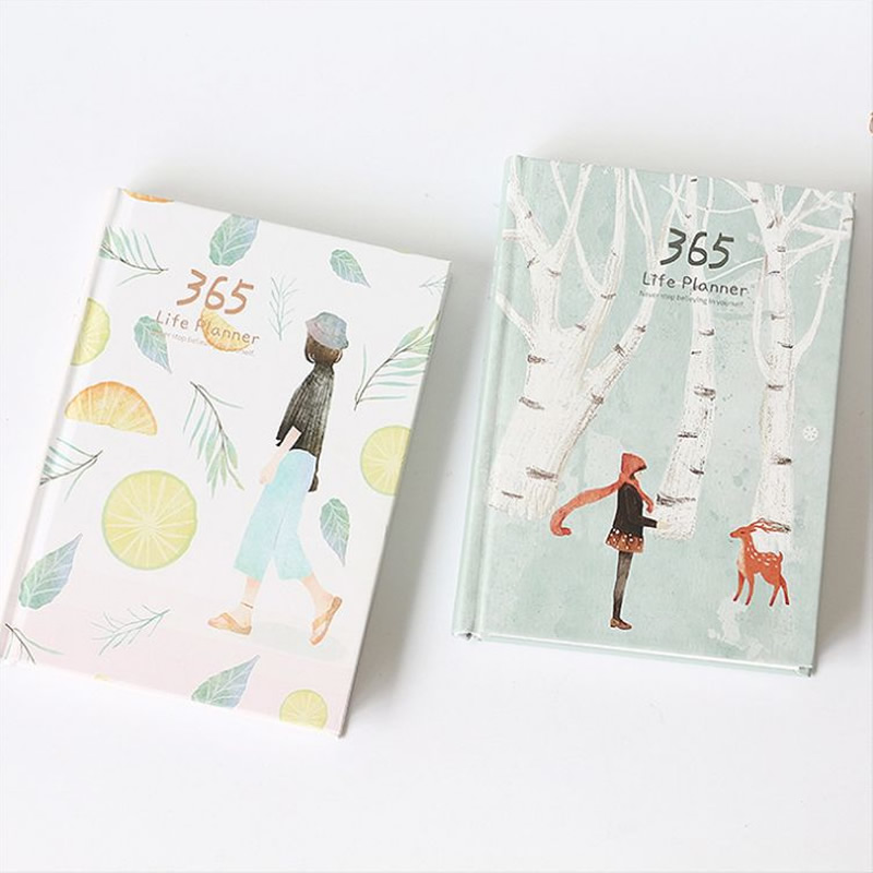 365 days personal diary planner hardcover notebook diary 2018 office weekly schedule cute korean stationery libretas y cuadernos 365 days personal diary planner