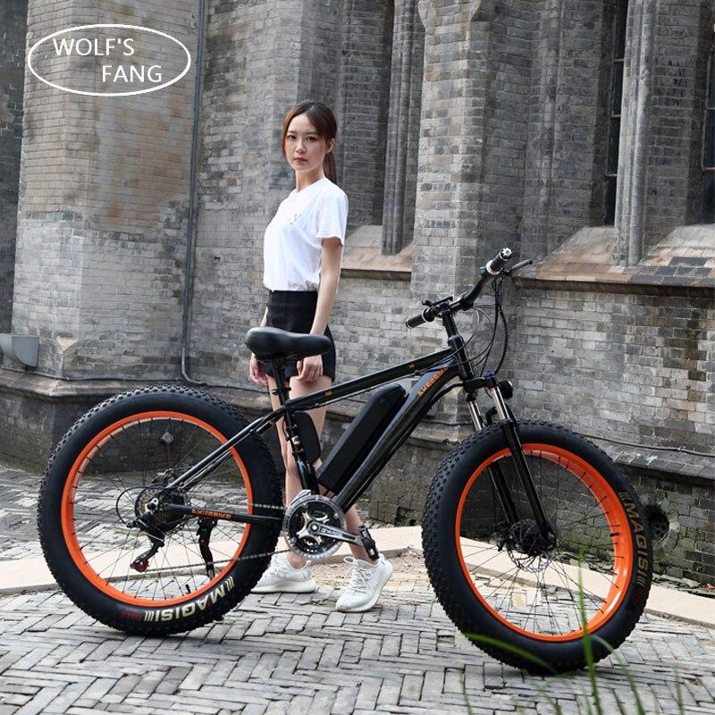 Vélo électrique 26x4.0 pouces Graisse Vélo Électrique 36 v 8/10ah Lithium Batterie Électrique de Vélo de Montagne 350 w Moteur Vélo Électrique puissant