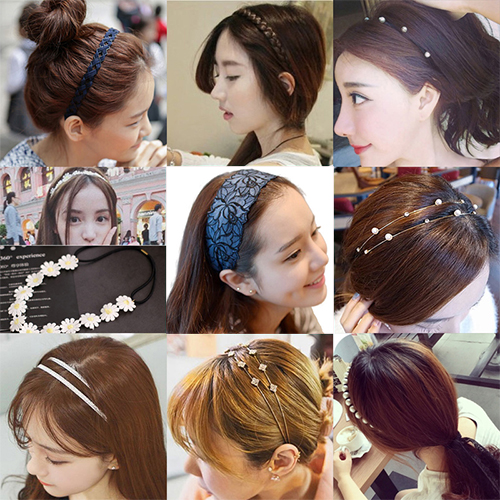 Big Sale women girls hair head bands hairband scrunchy accessories for kids children hair hoop bow decorations headband headwear