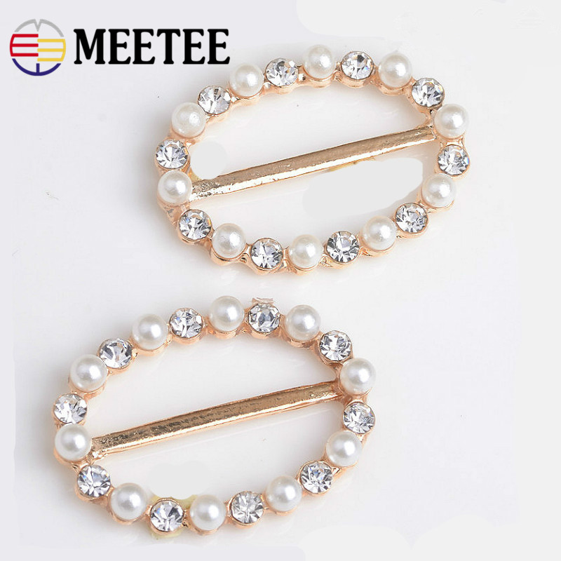 Objective Meetee 10pcs Pearl Rhinestone Tri-glide Buckle Clothing Decoration Buckle Diy Windbreaker Garment Jewelry Process Material Zk006 Arts,crafts & Sewing