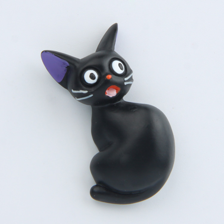 3 pieces lot Miyazaki Anime Witch Home Delivery black cat creative three dimensional refrigerator in Fridge Magnets from Home Garden