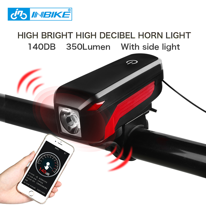 INBIKE Light Cycling-Equipment Electric-Horn Headlights-Flashlight Mountain-Bicycle Usb-Charging
