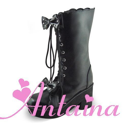 Princess sweet lolita gothic lolita boots shoes custom Tai an na punk high-heeled boots 8808b chromophous