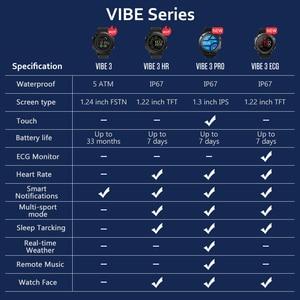 Image 5 - Original Zeblaze VIBE 3 กีฬา Smartwatch 33 เดือนสแตนด์บาย 24 H การตรวจสอบสภาพอากาศสมาร์ทนาฬิกาสำหรับ IOS และ Android