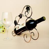 TYJJ 006 Metal Red Wine Rack Shelf Wine Holder Bronze Grape Leaf Tabletop Wine Bottle Holder