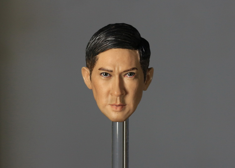 ФОТО 1:6 scale male Figure accessories Hong Kong star Nick Cheung head shape carved for 12