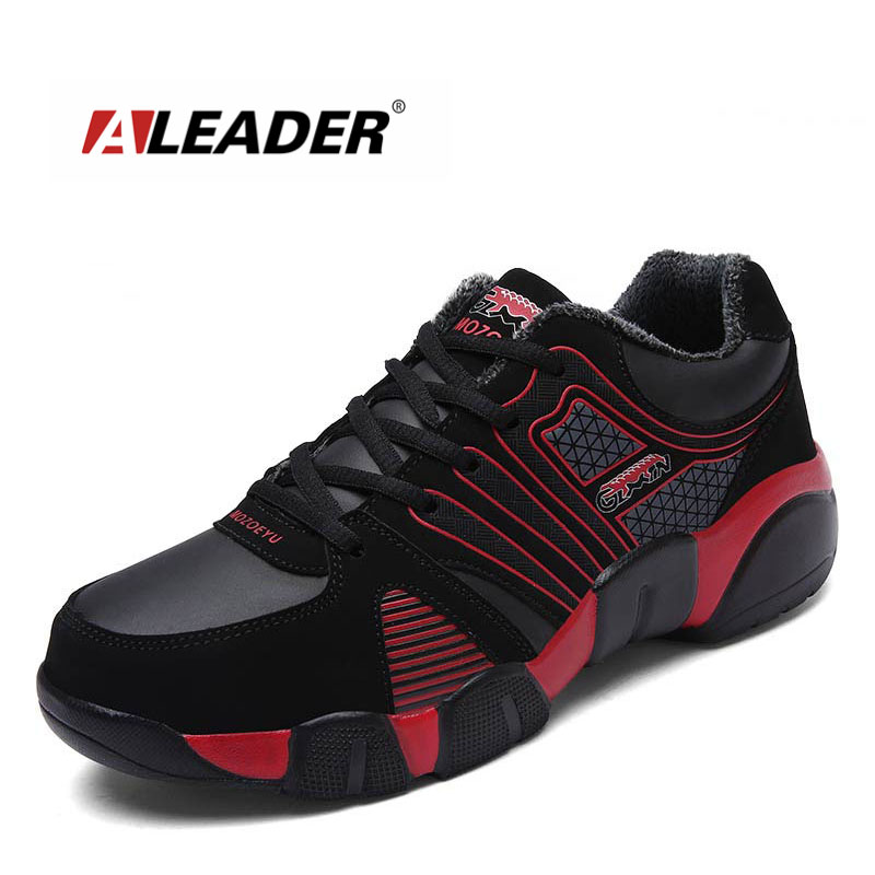 Aleader New Winter Running Shoes For Men Plus Size 37-47 Warm Outdoor Walking Shoes Male Lace-up Athletic Training Zapatillas