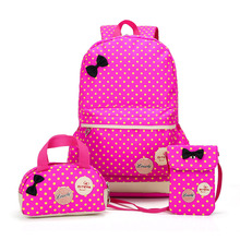 3 pcs set Children Backpack Women School Backpacks For Teenagers Famous Brand Cute Girls Canvas Casual Travel Bags Pencil Case  2017 famous brand girl school bags for teenagers backpack women shoulder travel bags 3 pcs set rucksack mochila knapsack