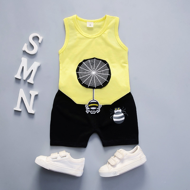 Toddler Garments Toddler Youngsters Summer time Child Boys Women Clothes Set Youngsters Sport Child Fits Tracksuits Cotton Vest + Pants DS49 Clothes Units, Low-cost Clothes Units, Toddler Garments Toddler...