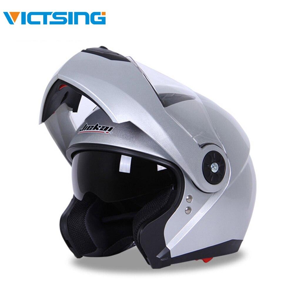 VicTsing Moto Flip Up casque de course modulaire double objectif casque de Moto intégral casques de sécurité Casco Capacete Moto M L XL XXL