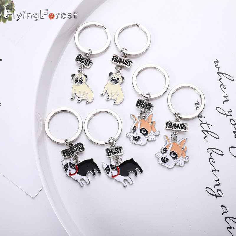 Keychains Mini Dog Pet Fashion Women Jewelry Car Keyring Cute Lovely Best Friend Gift Keychain Dog Lovers Jack Russell Terrier