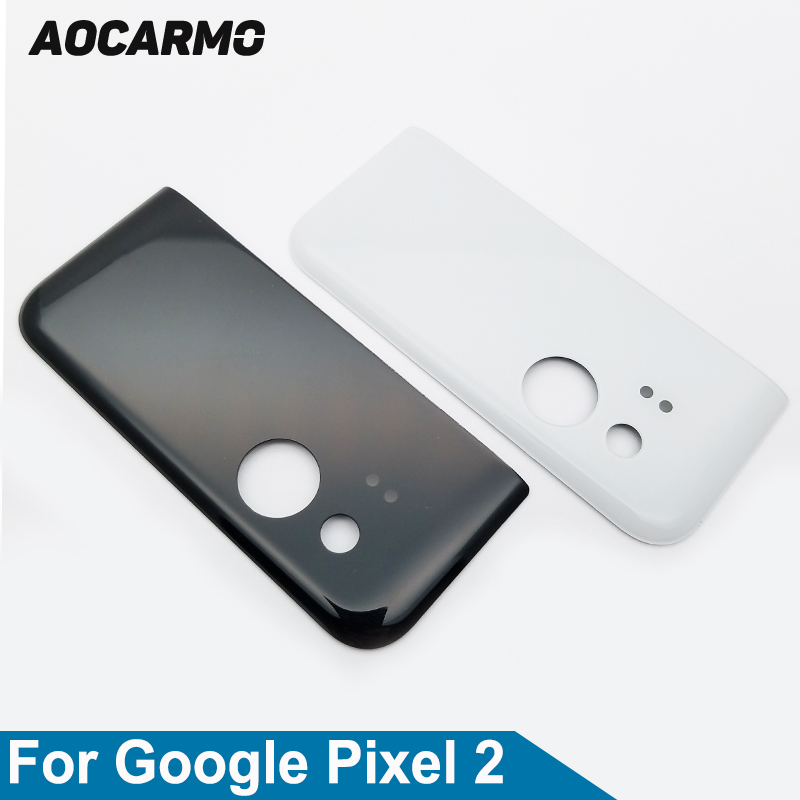 Aocarmo Original New Back Glass Housing Camera Cover With Adhesive For Google Pixel 2 Replacement 5.0