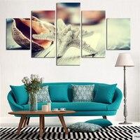 غير المؤطرة مطبخ مطعم غرفة المعيشة ديكور 5 أجزاء الحياة البحرية starfish محارة hd الطباعة المشارك الطلاء قماش جدار الفن صور