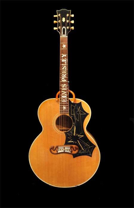 Gros 43 pouces électrique acoustique guitare Elvis Presley inlay en natual