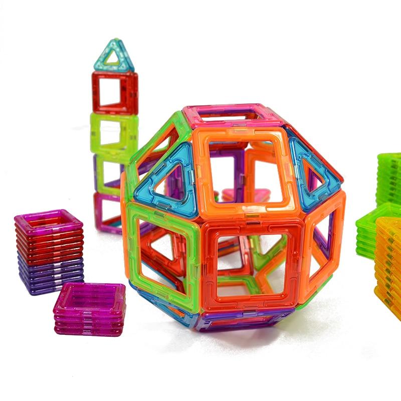 50 pcs Magnetic Constructor DIY Magnetic Blocks Children Toys Educational Blocks Set  Funny Magnetic  Building Models cheerlink zm 81 3mm neodymium iron diy educational toys set silver 81 pcs