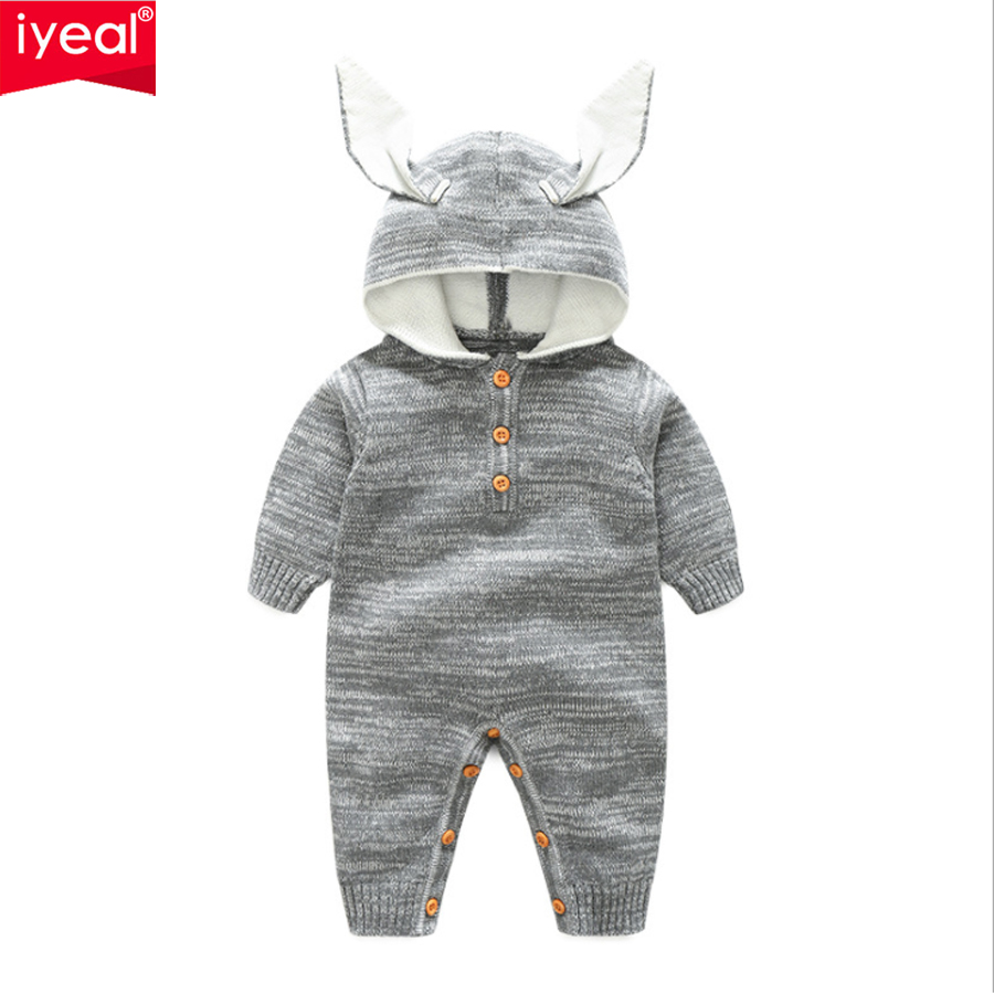 IYEAL New Arrival 2018 Spring Autumn Knitted Baby Boys Girls Clothes Long-sleeve Newborn Kids Toddler Romper Infant jumpsuit puseky 2017 infant romper baby boys girls jumpsuit newborn bebe clothing hooded toddler baby clothes cute panda romper costumes