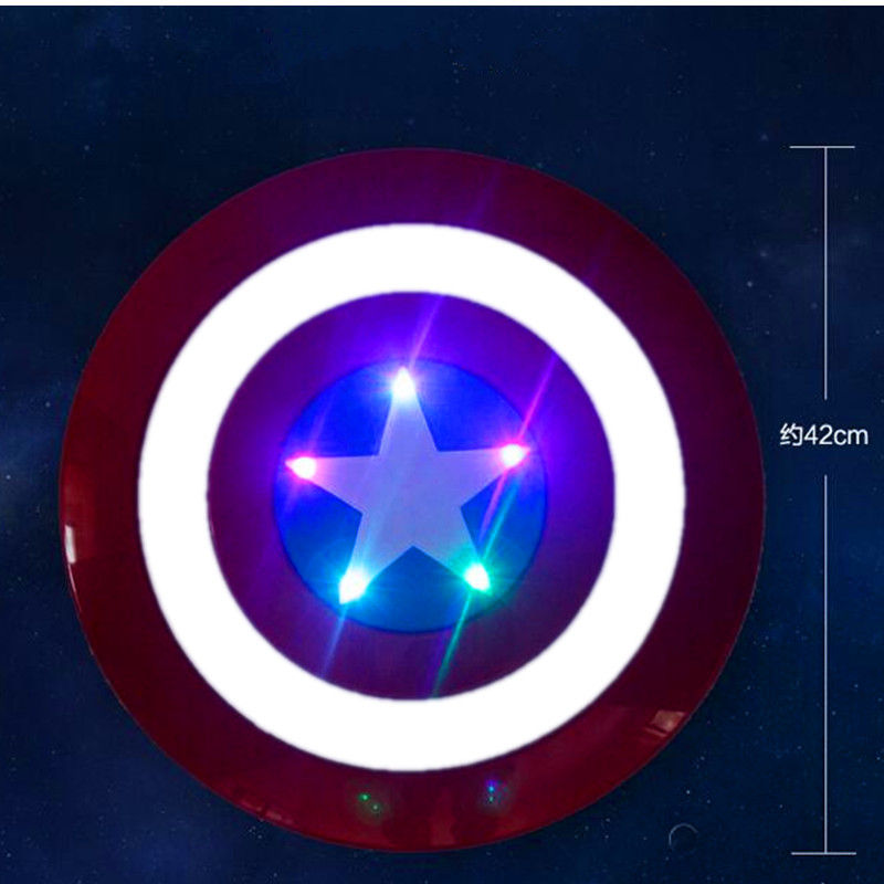 Shield With LED Light Music Cosplay 42CM Avengers:Infinity War Superhero Captain America Steven Rogers Action Figure Toy S179