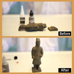 Image 4 - VISBELLA 3 pezzi 7 secondi adesivo rapido in polvere adesivo rapido colla riparazione riempimento rinforzo doppia resistenza allacqua sigillanti