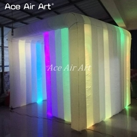 3mL durable brighter Inflatable Photo Booth Cube,photo Cabinet with Colorful Led spotlights for France Made In China