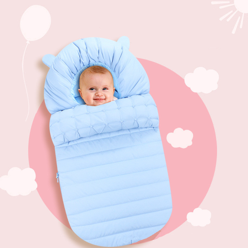 Baby Sleeping Bag Winter Envelope For Newborns Sleep Thermal Sack Cotton Kids Sleep Sack In The Carriage Wheelchairs цены