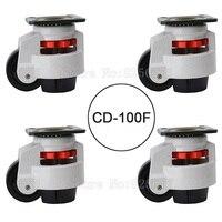 4 шт. cd 100f нагрузка 750 кг/шт. Регулировка уровня MC нейлон колеса и Алюминий Pad выравнивания МНЛЗ промышленных Колёсики jf1554