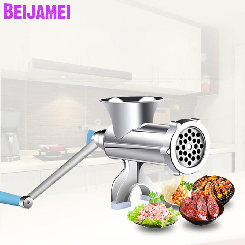 Beijamei Kitchen Tool Reinforce Manual Meat Mincer Meat Grinder Multifunctional Pasta Maker Hand Operated Sausage Maker