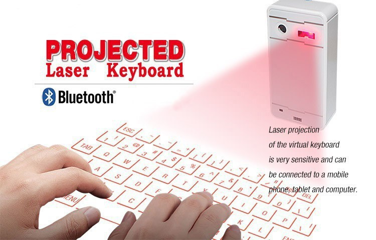 ФОТО Portable Virtual Laser keyboard and mouse for Ipad Iphone Tablet PC Bluetooth Projection Projected Keyboard Wireless Speaker