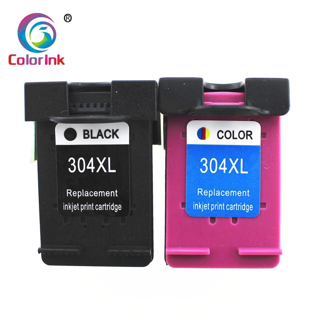 ColorInk 2PK para HP 304 Cartucho de Tinta para HP304 304xl para HP Deskjet 3720 3721 3723 3724 3730 3732 3752 3755 3758 printer