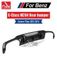 C-Class W204 Carbon Fiber Rear Diffuser for Mercedes-Ben C180 C200 C250 C300 C350 Sport Bumper & C63AMG bumper 2012-14