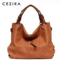 CEZIRA бренд большой для женщин кожа сумки Высокое качество Женский Pu вместительные сумки на плечо Твердые карман Дамы Твердые дамы