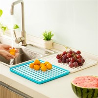 Draining Storage Rack Board Food Dish Fruit Tray Kitchen Tool Dry Multi Function Cooking For Living