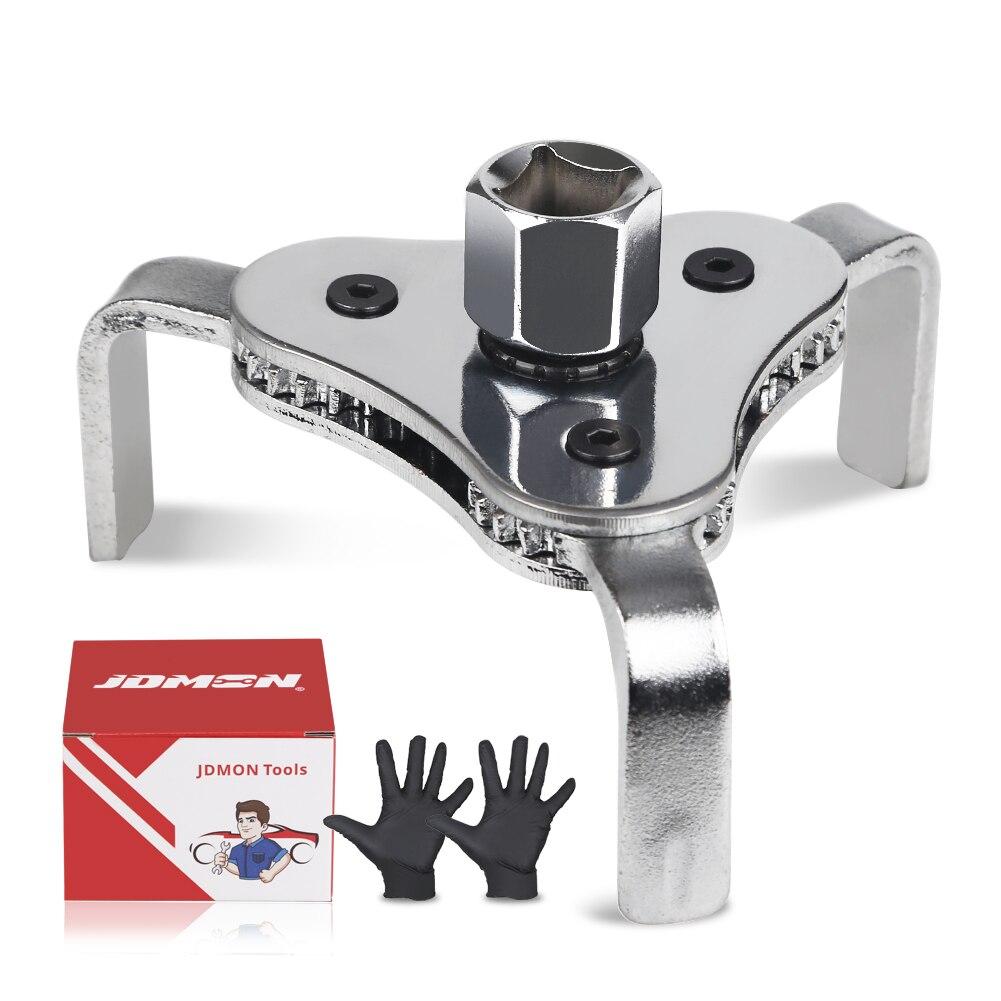 Drei-Klaue Öl Filter Entfernung Werkzeug Zu Senden Handschuhe Universal Einstellbare Ölfilterschlüssel 55-115mm Auto reparatur Und Wartung