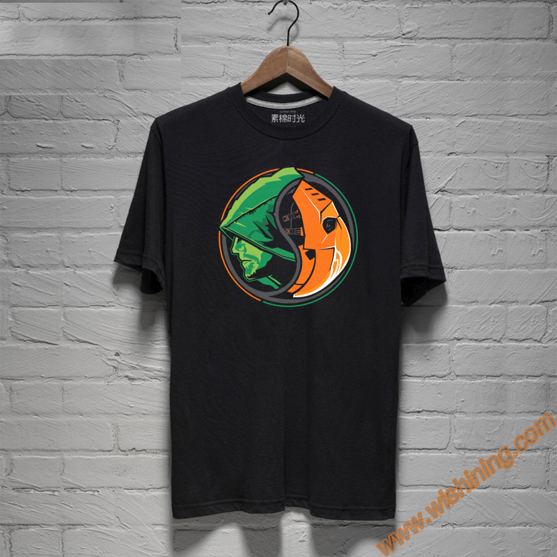 Cool Design Black Unisex Superhero Tees Marvel Oliver Queen Green Arrow Tshirts For Mens