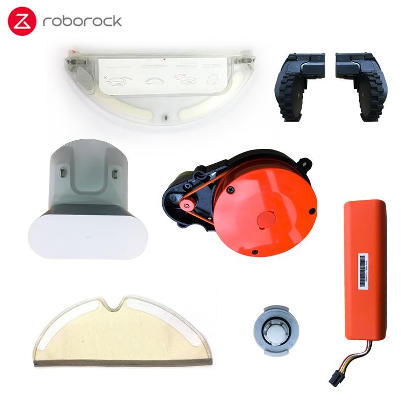 Original Roborock Vacuum Cleanner Parts  Suitable For Roborock 2 S50 Cleaning Robot Spare Parts Mop Cloth Charging Pile Black