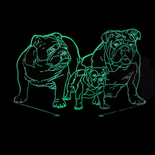 3D подсветкой Новинка 7 цветов Изменение мопса Семья Usb Night Lights домашнего декора ночники животного творческие подарки детям стол лампа