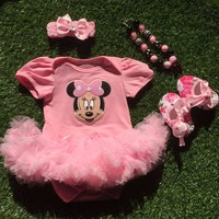 2018 new baby girl clothes newborn girl boutique baby clothing baby girl cartoon minnie outfits sets infant girl tutu jumpsuit