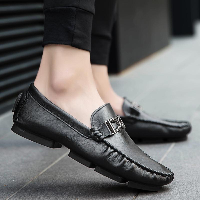 Microfibra Black Loafer Preto De Confortável Homem Cor Cinza 2018 39 Xk3 gray Moda Nova Cáqui Coringa khaki Simples Luz 44 Casual Tamanho Sapatos SxRgPq