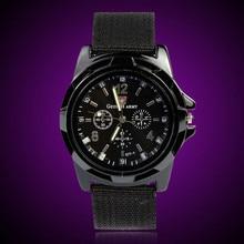 2016 Men Wrist Watches Gemius Army Racing Force Military Sport Fabric Band Black reloj hombre kol saati Good-looking JUN 23