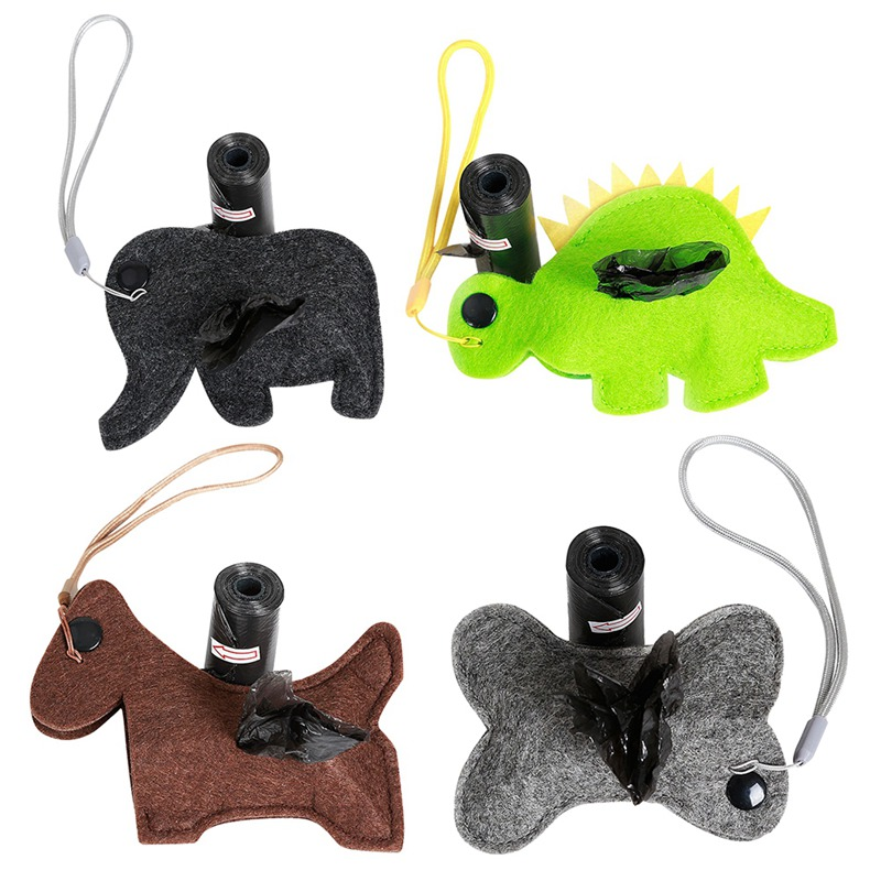 Pet Dog Poop Bag Dispenser Waste Garbage Bags Carrier Holder Dispenser Pet Dog Waste Poop Bag Dog Cleaning Products