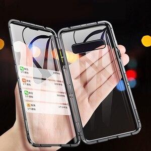 Image 2 - Eqvvol อัพเกรดโลหะโทรศัพท์แม่เหล็กสำหรับ Samsung Galaxy S9 S8 S10 PLUS คู่แก้วกรณี Samsung Note 8 9 S8 ฝาครอบ