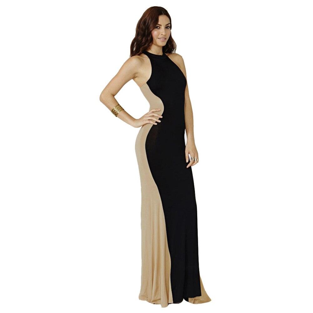 8029b8205edf34a Aamikast хит продаж оптовая продажа Новая мода рукавов лоскутные вечерние  пикантные Bodycon Для женщин длинные Макси платья Размеры S-XXL