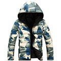 Men Hooded Camouflage Winter Down Jackets Men 2016 Long Sleeve Parka Warm Mens Winter Jackets And Coats Casual Mens Outwear