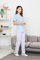 New long sleeved split uniform for doctors working clothes for nurses nursing technician beauty suit for women