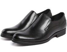 Мода Черный формальный мужские туфли из натуральной кожи бизнес обувь мужская свадебные туфли бесплатная доставка
