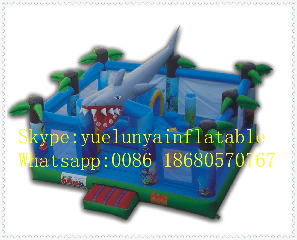 Factory direct Inflatable slide,Inflatable castle,Shark Castle Trampoline KYB-33 factory direct inflatable trampoline inflatable castle inflatable slide obstacle yly 0177